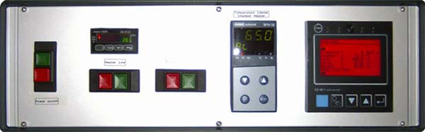 Control box of a vaporizer system for 1 precursor with programmable controller.